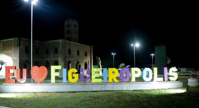 Identificação da Cidade de Figueirópolis-TO, implantada na Praça da Matriz de Figueirópolis-TO.