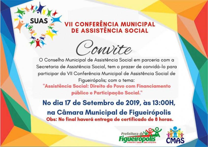 Dia 17 de Setembro de 2019- Aconteceu a VII Conferência Municipal de Assistência Social.