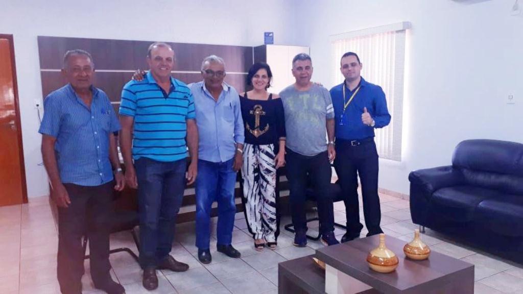 Dia 21/02/2020- Reunião do Prefeito Fernandes Martins, Gerentes do Banco do Brasil Gurupi/Figueirópolis, e Diretoria do Sindicato Rural de Figueirópolis-TO.